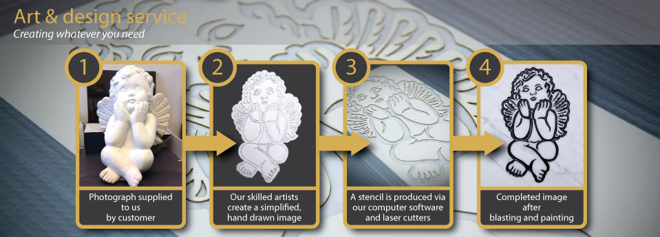 On Reflection Laser Cut Sandblasting Stencils  - Art And Design Service