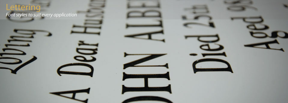 On Reflection Laser Cut Sandblasting Stencils - Lettering